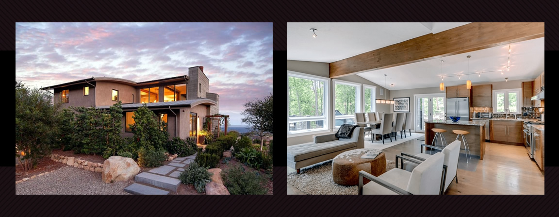 Contemporary architectural home exteriors