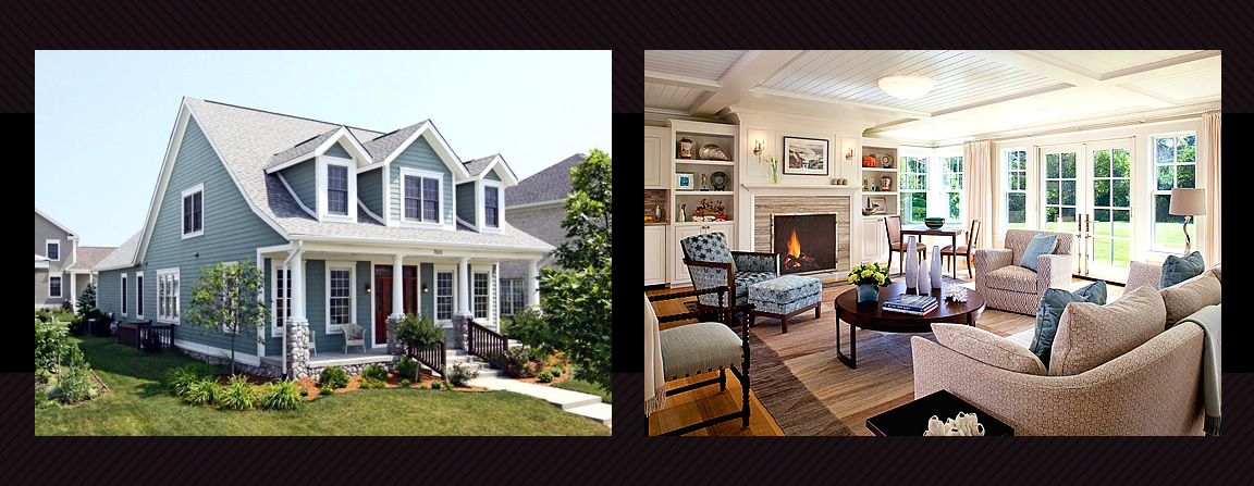 The Cape Cod Colonial home is a cozy home with a charming curb appeal and comfortable warm interiors designed to maximize space