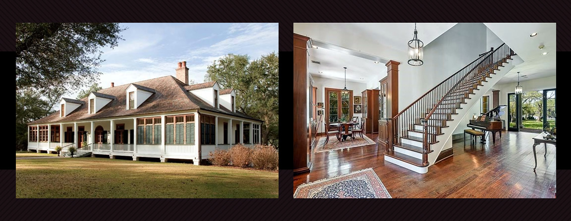 The French Colonial home is a popular style of home design throughout central Canada. Quebec homes are both historical and modern reproductions of the building style.