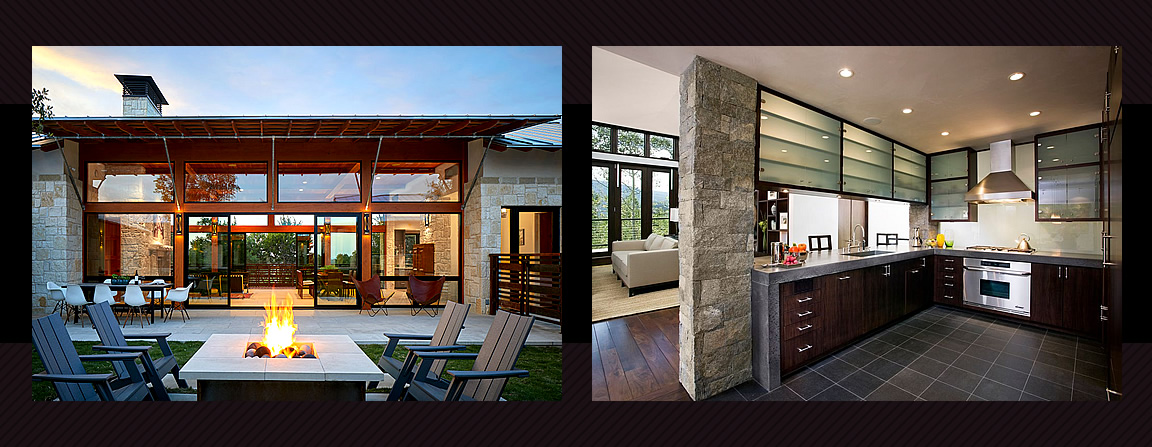 Contemporary ranch homes blend indoor and outdoor living spaces.