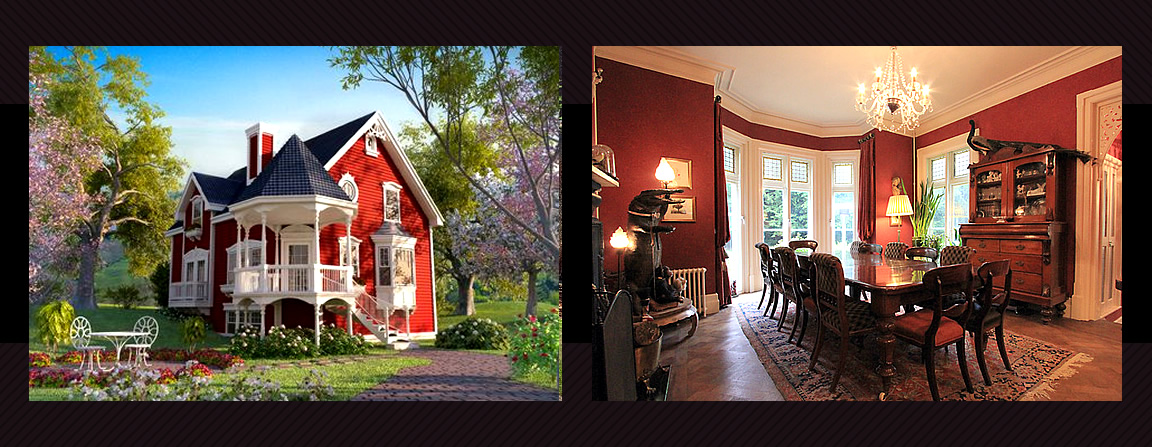 Gothic Victorian homes are a romantic, dramatic and aesthetically gorgeous variation of the country architectural home style